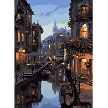 YANXIN DIY Framed Painting By Numbers Oil Paint Photo Wall Art Digital Pictures Painting Decor For Home Decoration Gifts S038