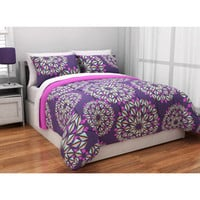 Walmart: Latitude Kaleidoscope Reversible Complete Bedding Set, Purple
