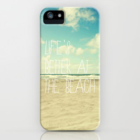 life's better at the beach iPhone & iPod Case by Sylvia Cook Photography