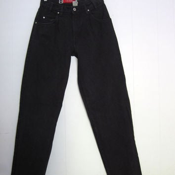"Vintage 90s Levi's Jeans Loose Black 31x34 Hip Hop Denim Silver Tab Pleat Guy's 29"" x 34"""