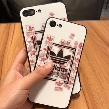Adidas 2017 Hot ! iPhone 7 iPhone 7 plus - Stylish Cute On Sale Hot Deal Matte Couple Phone Toughened Glass Case For iphone 6 6s 6plus 6s plus