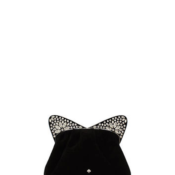 Kate Spade Cat's Meow Embellished Cat Bag Black ONE