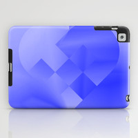 Danish Heart Blues iPad Case by Gréta Thórsdóttir  #love #heart #girly #Christmas #blue #kids #ombre #pattern #tablet t