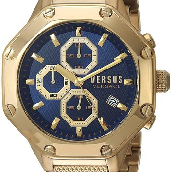 Versus by Versace Men's 'KOWLOON' Quartz Stainless Steel and Gold Plated Casual Watch(Model: VSP390417)