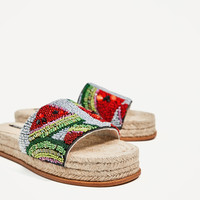 BEADED WATERMELON SLIDES