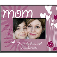 Heart and Flowers Frame - Mom