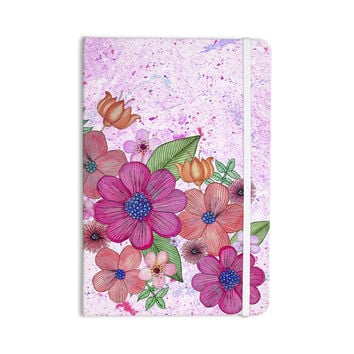 "Julia Grifol ""My Garden In Pink"" Magenta Floral Everything Notebook"