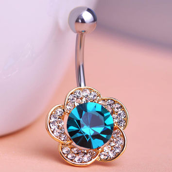 Trendy Stainless Steel Rhinestone Body Jewelry