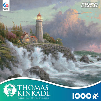 Thomas Kinkade 1000 Piece Puzzle -Conquering the Storm