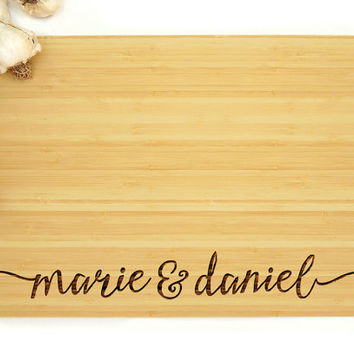 Personalized Wedding Gift, Custom Cutting Board, Anniversary Gift, Engagement Gift, Bride and Groom Gift, Christmas Gift, Housewarming Gift