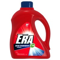 Era 2x Ultra Active Stainfighter Formula Regular Liquid Detergent 64 Loads 100 Fl Oz   (Pack of 4)