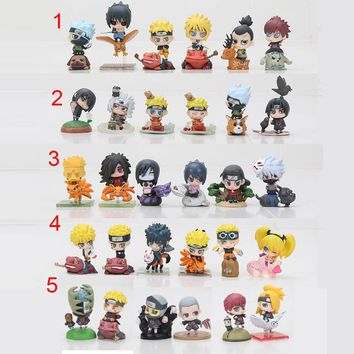 6pcs/lot Naruto Q Version Action Figure