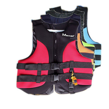 Outdoor Life Vest Water Sports Life Jacket Fishing Jacket Lifejacket Inflatable Vest with Whistle