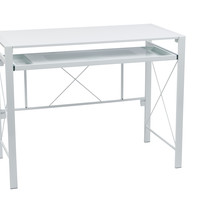 OSP Designs Creston Desk with White Frame and White Top