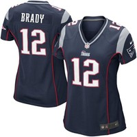 Nike Tom Brady New England Patriots Women's Game Jersey - Navy Blue