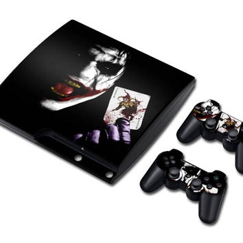 Joker Batman Vinyl Decal Skin Sticker for PS3 Slim /layStation 3 Slim with 2 Controller Skins = 1927869380