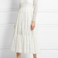 Dolce & Gabbana - Cotton-blend lace dress
