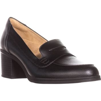 naturalizer Hilly Loafer Pumps, Black Tumble, 6.5 US / 36.5 EU
