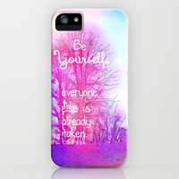 Be Yourself iPhone & iPod Case by Olivia Joy StClaire