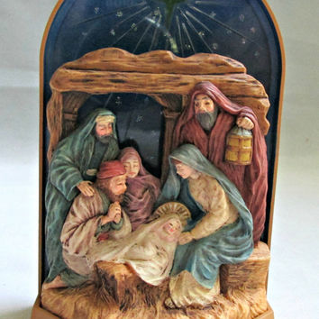 Hallmark Keepsake Christmas Ornament Magic Light 1996 Let Us Adore Him Religious Ornament