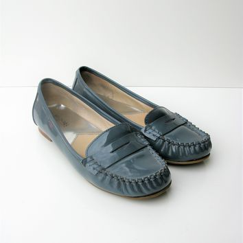 Penny Loafers Driving Shoes Moccasin Flats Patent Leather Winsor Loafer 8.5 MICHAEL KORS
