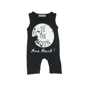 Summer 2017 unisex baby clothes cotton sleeveless printed