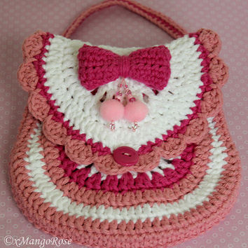 Crochet Little Girl Pink Purse