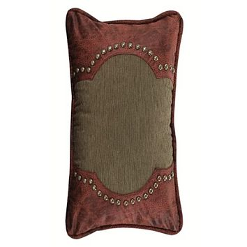 Cowgirl Kim San Angelo Faux Leather and Corduroy Pillow
