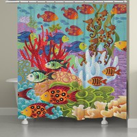 Fish in the Hood Shower Curtain