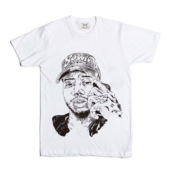 Bryson Tiller trapsoul White Tee (Unisex) // madness pen griffey