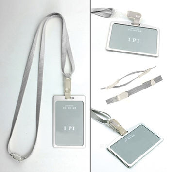 New Arrival Business Card Aluminum Alloy Metal Work Card Badge with adjustable Lanyard Id Holders For Men Women