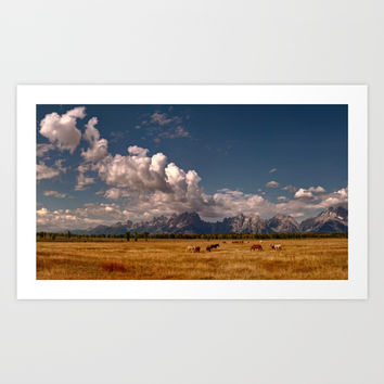 The Grand Tetons Art Print by Lena Owens/OLenaArt