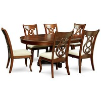 Furniture Bordeaux Pedestal Round 7-Pc. Dining Room Set (Dining Table & 6 Side Chairs) Furniture - Macy's
