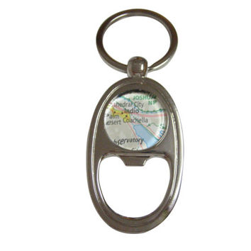 Coachella Map Bottle Opener Key Chain