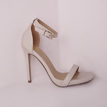 Missguided - Barely There Heeled Sandals Nude