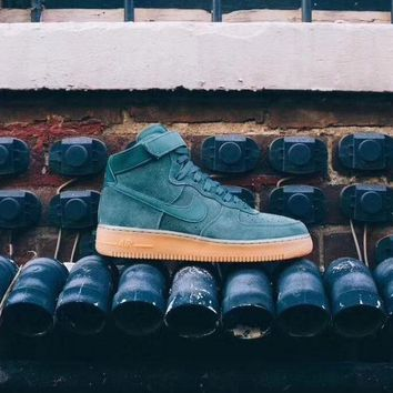 "Nike Air Force 1 High '07 LV8 Suede ""Vintage Green Gum"" AA1118-300"