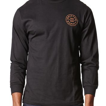 Brixton Oath Long Sleeve T-Shirt - Mens Tee - Black