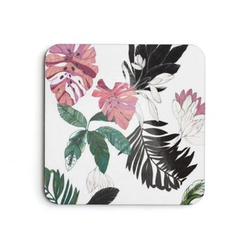 Flower Design Coaster Set