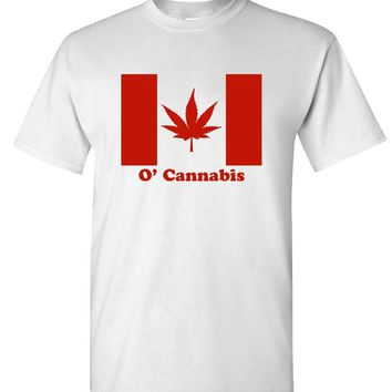 O'CANNABIS - canada marijuana drugs weed - Cotton Unisex T-Shirt