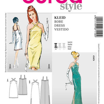 60s Inspired Sexy Slim Line Dress, Prom Dress, Evening Gown Sewing Pattern, Glamorous, Burda 7110 Sizes 8, 10, 12, 14, 16, 18,  uncut