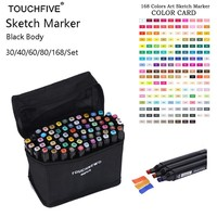 Touchfive 168 Colors set Alcohol Double Headed sketch Marker For School Drawing Marker Animation Design School Supplies