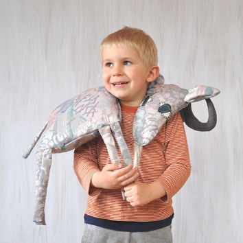 Grey Goat Pillow Kids Room Decor Country House Summer Whimsical Animal Sweet Soft Toy Funny Plush
