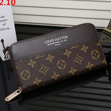 Louis Vuitton LV Woman Men Fashion Leather Wallet Purse