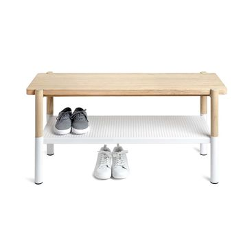 Hub Bench - White/Natural