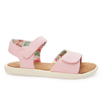 TOMS Pink Canvas Tiny TOMS Sandals Pink