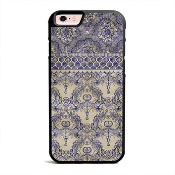 Vintage Wallpaper - hand drawn patterns in navy blue & cream iPhone Case, Samsung case, iPod case, HTC, LG, Nexus, Xperia, iPad Case