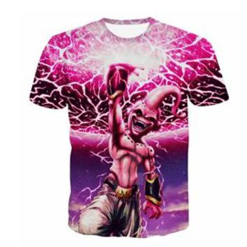 PLstar Cosmos Men Fashion Summer t shirt Anime Dragon Ball Z Majin Buu/Goku print Cool T Shirts Men Women Hipster t shirt