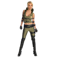 Rubie's Costume Co Womens Mortal Kombat Sonya Blade Halloween Party Costume Set