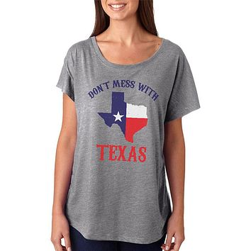 Don't Mess With Texas Juniors Dolman T Shirt