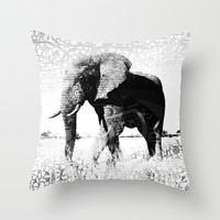 ELEPHANTart Throw Pillow by Maioriz Home